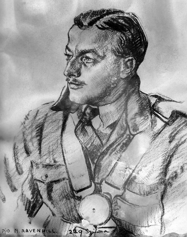 Portrait by RAF artist Cuthbert Orde