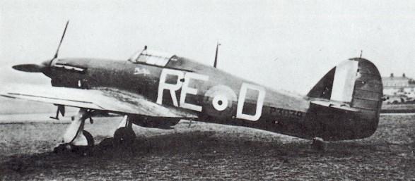 Hawker Hurricane P3039 of 229 Squadron (P/O Ortmans)