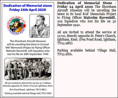 Memorial Stone 24th April 2020